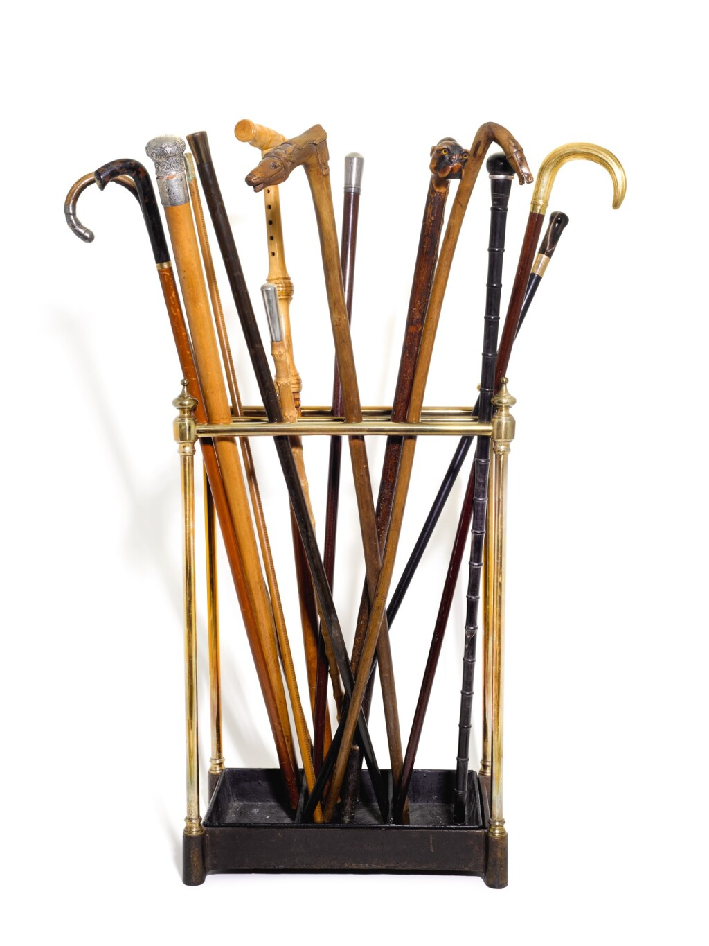 A COLLECTION OF THIRTEEN WALKING CANES, VARIOUS, LATE 19TH/EARLY 20TH CENTURY,