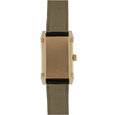 View 4. Thumbnail of Lot 86. JAEGER-LECOULTRE   REF 240.214 REVERSO, A PINK GOLD RECTANGULAR REVERSIBLE WRISTWATCH WITH POWER RESERVE INDICATION CIRCA 2005.