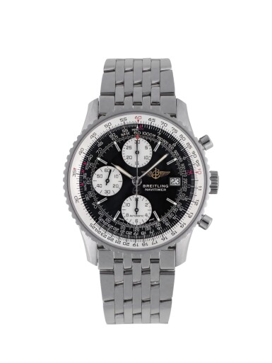 View 1. Thumbnail of Lot 84. BREITLING | NAVITIMER, REF A13322 STAINLESS STEEL CHRONOGRAPH WRISTWATCH WITH DATE AND BRACELET CIRCA 2001.