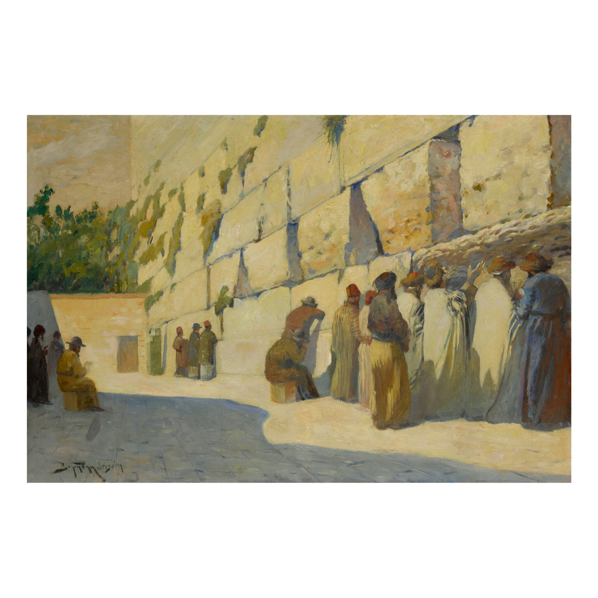 View full screen - View 1 of Lot 24. ADOLF BEHRMANN | PRAYING AT THE KOTEL.