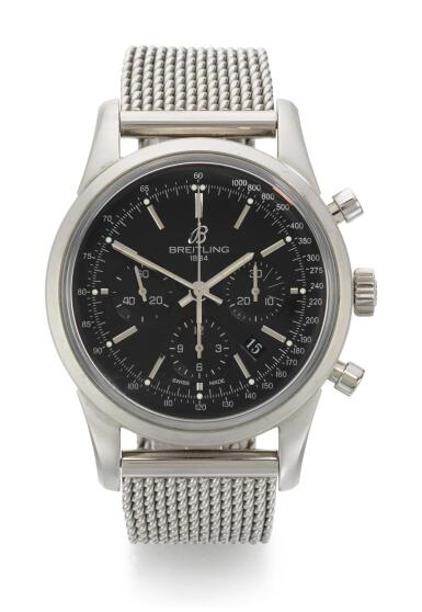 View 1. Thumbnail of Lot 30. BREITLING | TRANSOCEAN CHRONOGRAPH, REFERENCE AB015212,  STAINLESS STEEL CHRONOGRAPH WRISTWATCH WITH DATE AND BRACELET, CIRCA 2012.