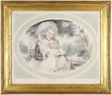 View 2. Thumbnail of Lot 202. A portrait of Lady Hester Lushington (1750-1830) and her son Stephen Lushington (1782-1873).