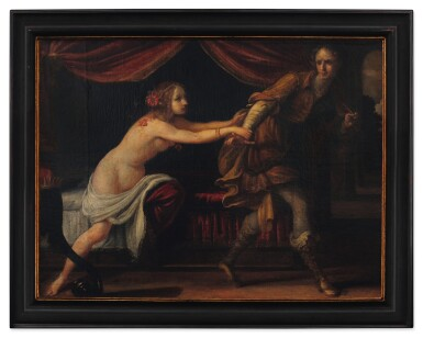 View 2. Thumbnail of Lot 76. Sold Without Reserve | ATTRIBUTED TO SIMONE PIGNONI | JOSEPH AND POTIPHAR'S WIFE.