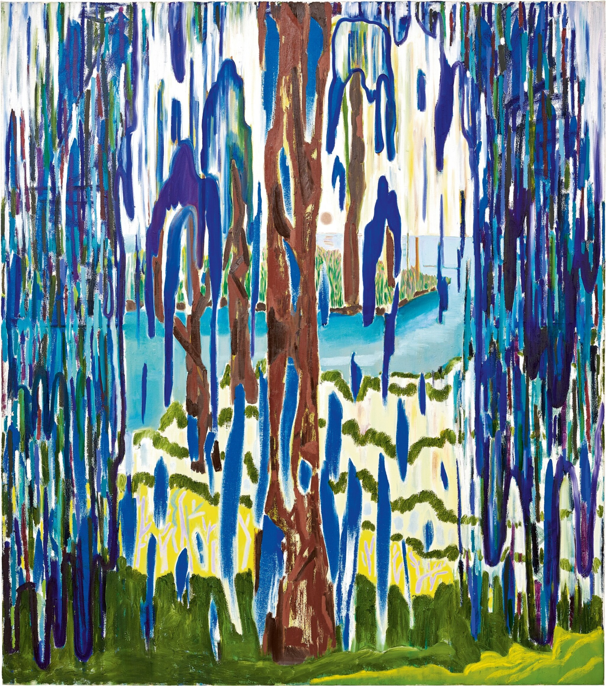 View full screen - View 1 of Lot 1107. Shara Hughes 莎拉‧休斯   Weeping Willow 哭泣的垂柳.