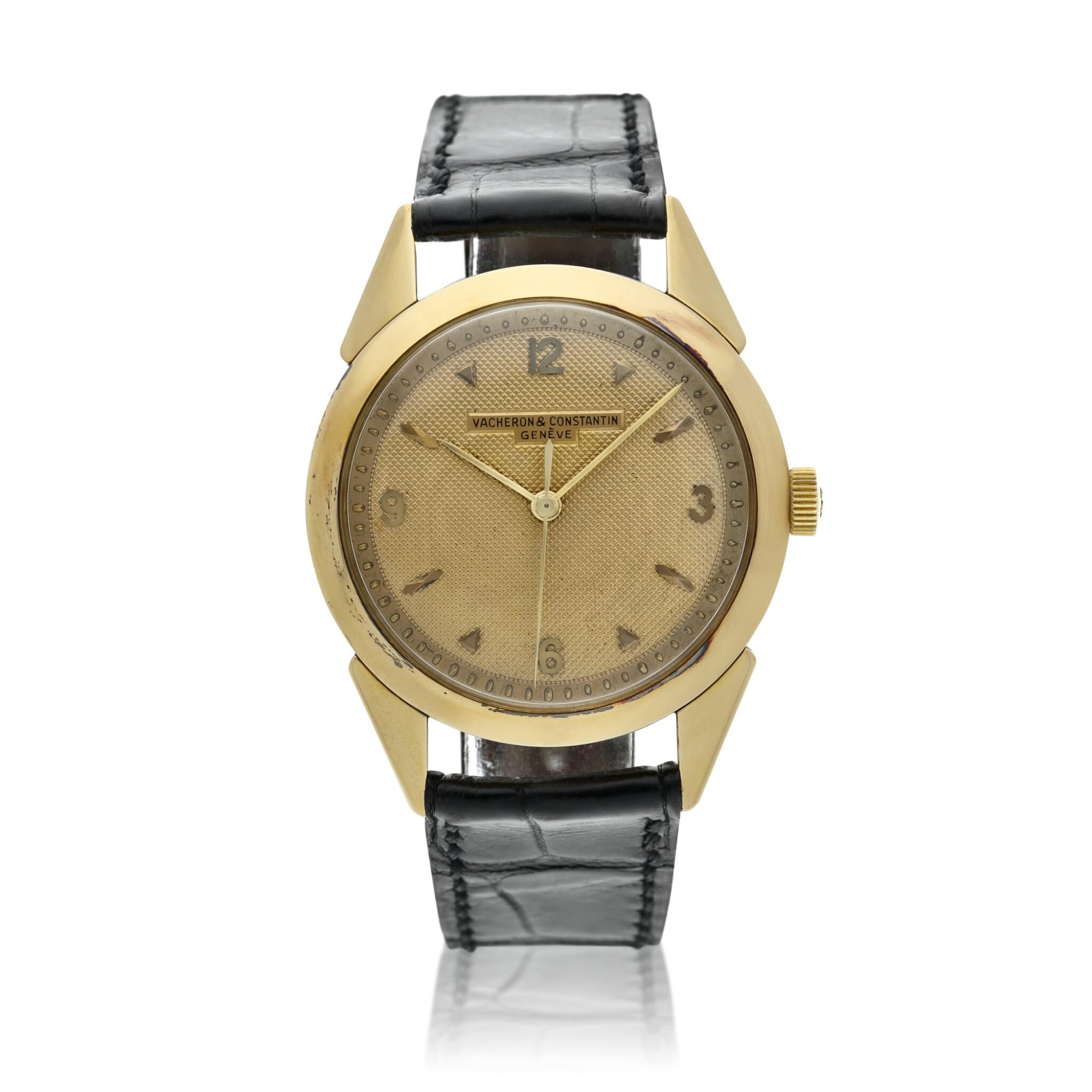 View full screen - View 1 of Lot 117. A yellow gold wristwatch, Circa 1960 .