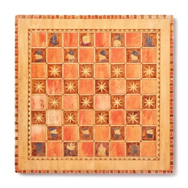 Group of Three American Polychrome Paint-Decorated Wooden Gameboards, 19th/20th century