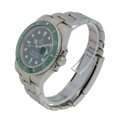View 2. Thumbnail of Lot 341. 'HULK' SUBMARINER, REF 116610LV STAINLESS STEEL WRISTWATCH WITH DATE AND BRACELET CIRCA 2017.
