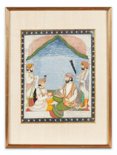 View 8. Thumbnail of Lot 66. INDIA, RAJASTHAN AND PUNJAB, 19TH CENTURY | TWO PORTRAITS AND TWO GATHERINGS.