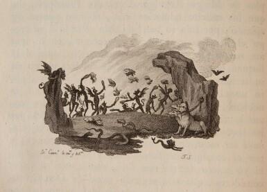 View 4. Thumbnail of Lot 88. Cervantes, Don Quixote, Madrid, Ibarra, 1780, 4 volumes, navy morocco gilt by Bozérian.