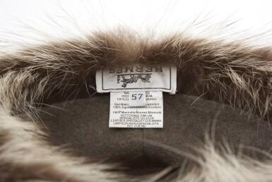 Cashmere, lambskin and marmot hat , Hermès