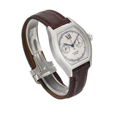 View 3. Thumbnail of Lot 30. Tortue Monopoussoir, Ref. 2396 White Gold Single-Button Chronograph Wristwatch Circa 2000.