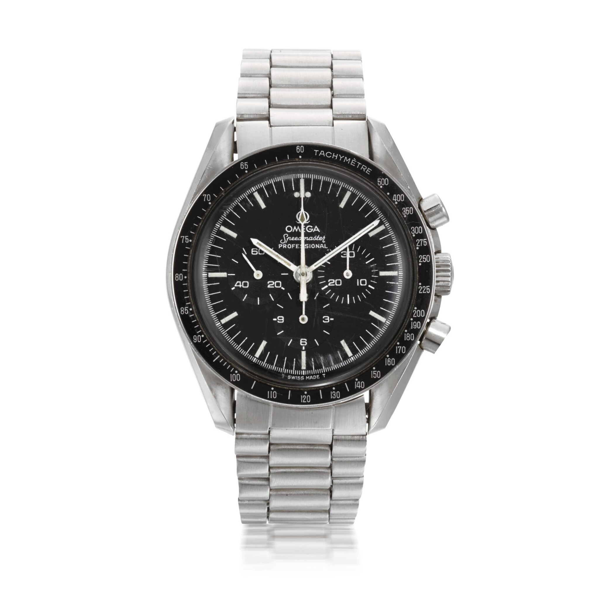 View full screen - View 1 of Lot 706. REFERENCE ST 145.022, SPEEDMASTER STAINLESS STEEL CHRONOGRAPH WRISTWATCH CIRCA 1983.