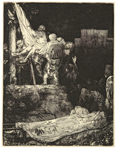 REMBRANDT HARMENSZ. VAN RIJN | THE DESCENT FROM THE CROSS BY TORCHLIGHT (B., HOLL. 83; NEW HOLL. 286; H. 280)