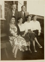 Sylvia Plath and Ted Hughes   Collection of six photographs with the Hughes family in Yorkshire, September 1956
