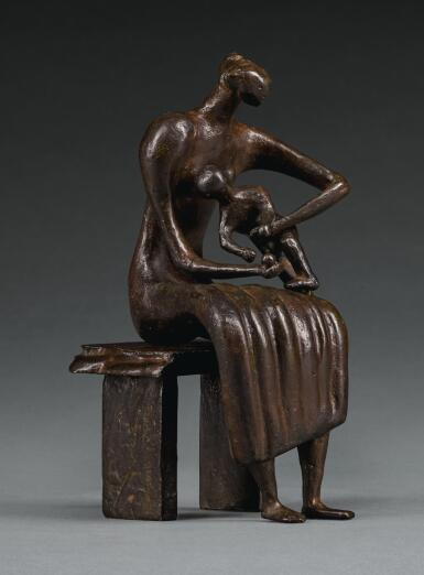 HENRY MOORE | MAQUETTE FOR MOTHER AND CHILD WITH APPLE