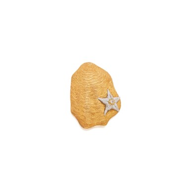 TWO-COLOR GOLD AND COLORED DIAMOND COMPACT, BUCCELLATI