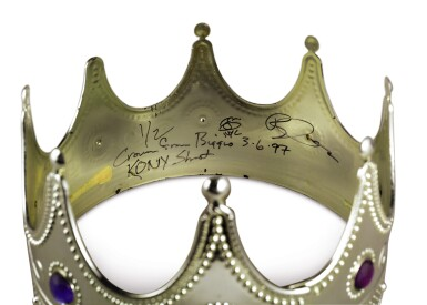 View 2. Thumbnail of Lot 87. [THE NOTORIOUS B.I.G.] BARRON CLAIBORNE | The crown worn by Biggie when photographed as the King of New York, 1997..