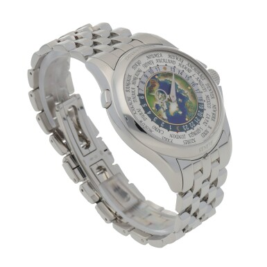 View 3. Thumbnail of Lot 342. WORLD TIME, REF 5131P PLATINUM WORLD TIME WRISTWATCH WITH BRACELET CIRCA 2018.