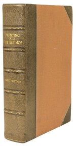 WHITNEY, HARRY | Hunting with the Eskimos: the unique record of a sportsman's year among the northernmost tribe—the big game hunt, the native life, and the battle for existence through the long Arctic night. New York: De Vinne Press for the Century Co., 1910