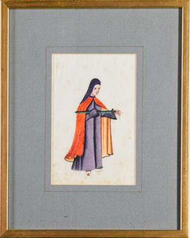 View 8. Thumbnail of Lot 163. A set of fourteen Chinese paintings on silk, Canton, 19th century.