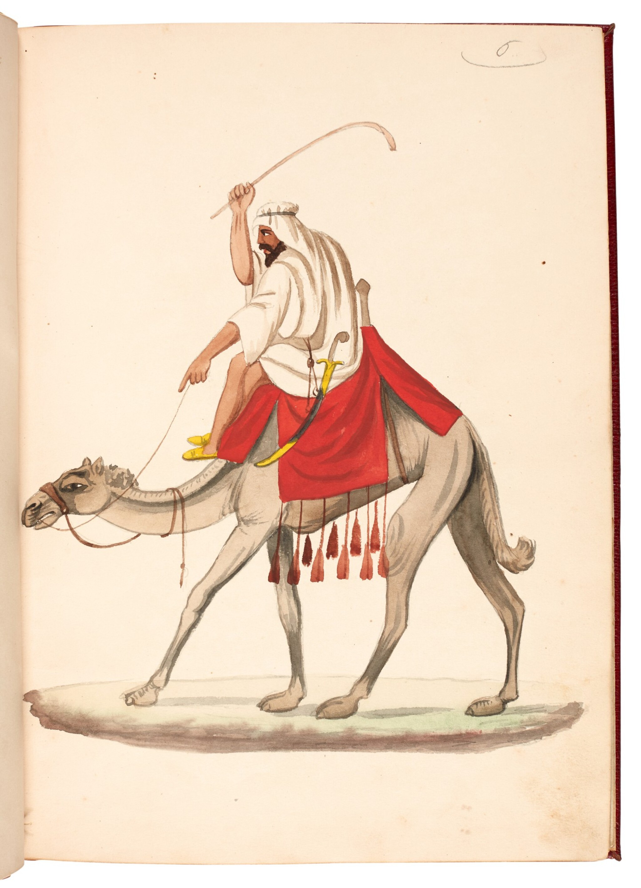View full screen - View 1 of Lot 82. EGYPT | Album of seventy six watercolours of Egyptian costume and views, 19th century.