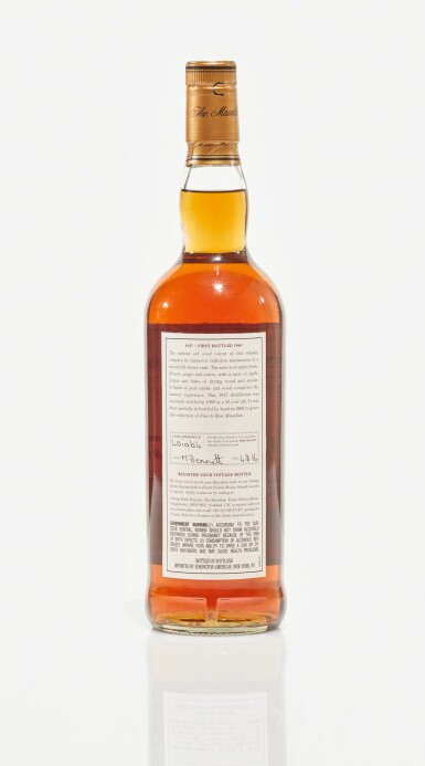 View 2. Thumbnail of Lot 12. The Macallan Fine & Rare 32 Year Old 43.0 abv 1937 (1 BT75cl).