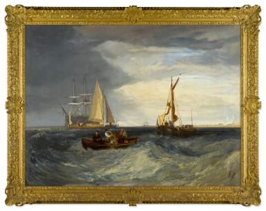 View 2. Thumbnail of Lot 50. Purfleet and the Essex Shore as seen from Long Reach | 《在朗里奇眺望珀弗利特與埃塞克斯海岸》.