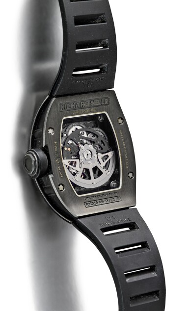 View 3. Thumbnail of Lot 354. RICHARD MILLE | RM010 A LIMITED EDITION DLC-COATED TITANIUM SEMI-SKELETONISED WRISTWATCH WITH DATE, MADE FOR THE PARIS BOUTIQUE, CIRCA 2010.
