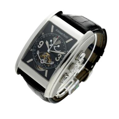View 3. Thumbnail of Lot 370. Reference 25958PT Edward Piguet Tradition D'excellence Tourbillion  A limited edition platinum tourbillon chronograph wristwatch with dynamograph indication, Circa 2002 .