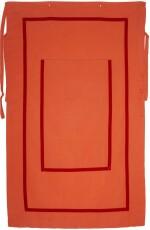 ANDREA ZITTEL | ORANGE LINEN WITH RED VELVET RIBBON PERSONAL PANEL