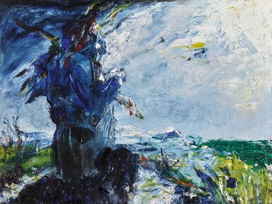 JACK BUTLER YEATS, R.H.A.   THE MAN IN THE MOON HAS PATIENCE