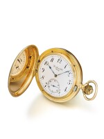 PATEK PHILIPPE   RETAILED BY SPAULDING & CO. CHICAGO: A PINK GOLD HUNTING CASED WATCH MADE IN 1886