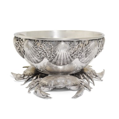 View 3. Thumbnail of Lot 22. A large Italian pewter champagne and wine cooler, designed by Piero Figura for Atena, Milan, modern.