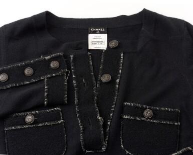 View 4. Thumbnail of Lot 174. Black cashmere mini dress.