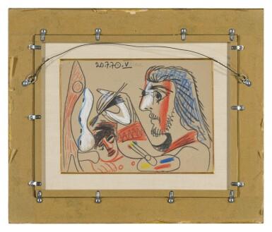 View 3. Thumbnail of Lot 115. Le Peintre et son modèle (A Double-Sided Drawing).