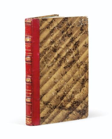 View 1. Thumbnail of Lot 55. Une princesse parisienne. 1840. EO., Rel. de l'ép. De la bibliothèque de Balzac, relié pour lui..