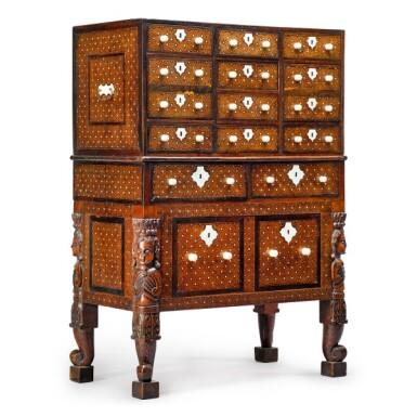 View 8. Thumbnail of Lot 106. Indo Portuguese, Goa, 17th century | 'Contador' Cabinet.