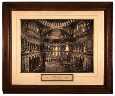View 2. Thumbnail of Lot 215. Constantinople. Large framed photograph of Hagia Sofia. c.1880s.