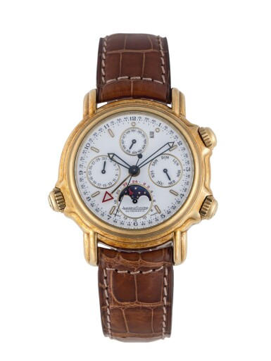 View 1. Thumbnail of Lot 103. JAEGER-LECOULTRE   GRAND REVÉIL, REF 180.1.99 YELLOW GOLD PERPETUAL CALENDAR WRISTWATCH WITH MOON PHASES, ALARM, 24-HOUR AND YEAR INDICATION CIRCA 1989.