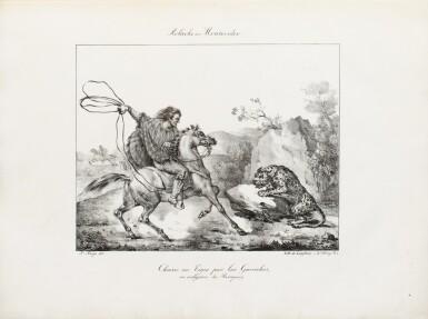 """View 3. Thumbnail of Lot 37. ARAGO (Jacques). Atlas pour """"Promenade autour du monde"""" [1822]. Petit in-folio 1/2 basane verte."""