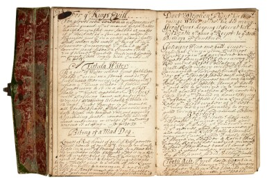 View 3. Thumbnail of Lot 47. MEDICINE   Manuscript medical and culinary recipe book, 17th centuy.