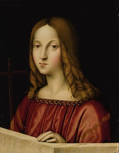 MASTER OF SAN VINCENZO | YOUNG CHRIST AS SALVATOR MUNDI
