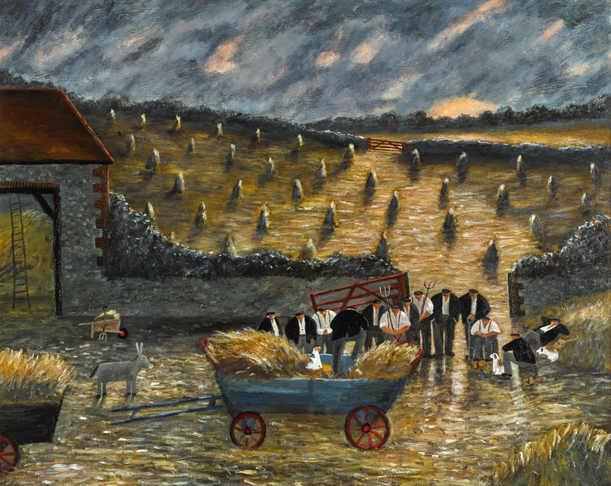 View full screen - View 1 of Lot 149. GARY BUNT   THE SERMON IN THE WHEAT FIELD.
