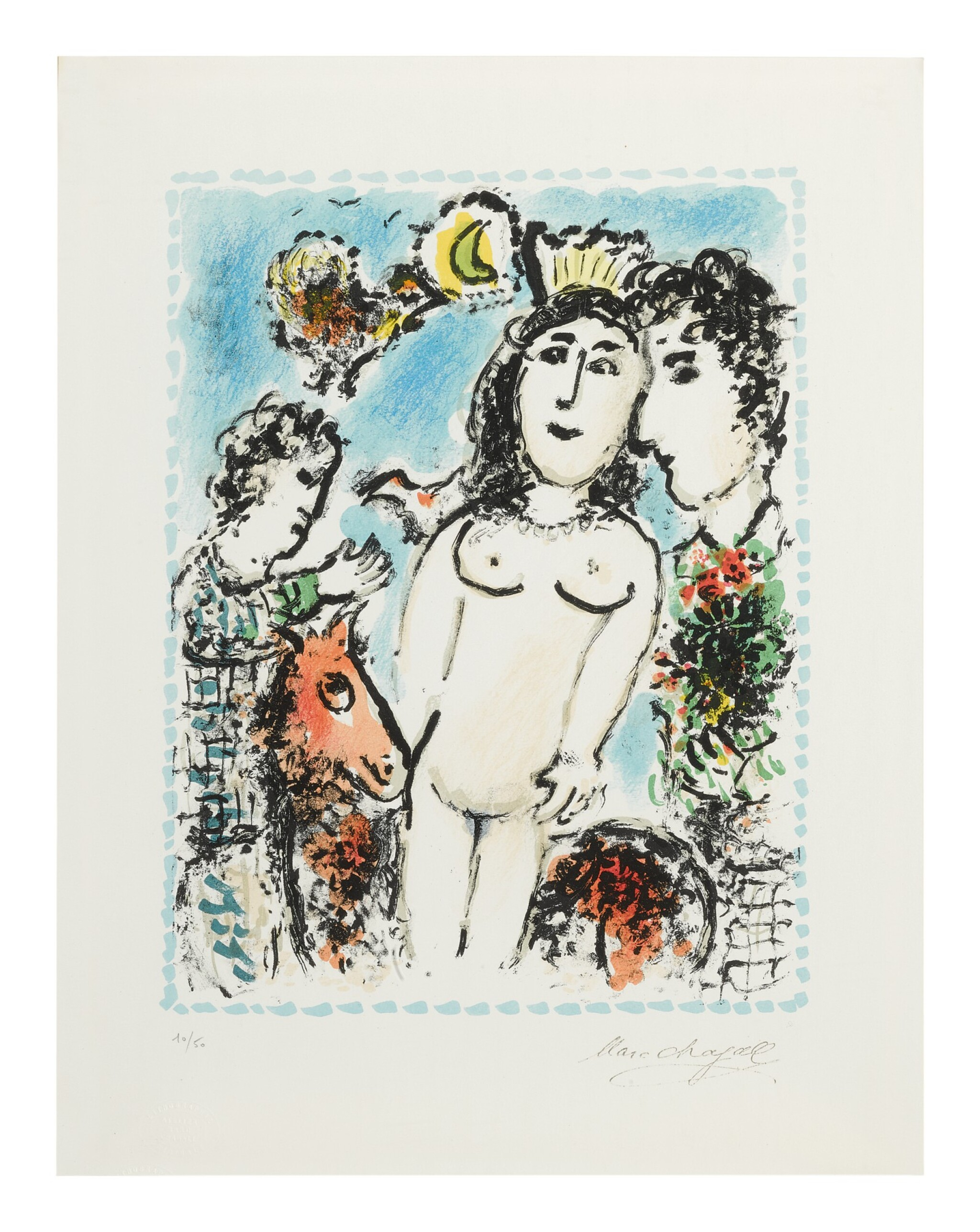 View full screen - View 1 of Lot 59. MARC CHAGALL   CROWNED NUDE (M. 1041).