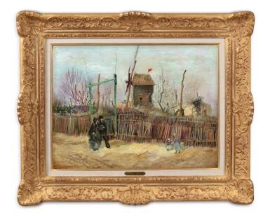 View 2. Thumbnail of Lot 6. Scène de rue à Montmartre (Impasse des Deux Frères et le Moulin à Poivre)      .