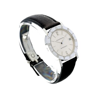 REFERENCE BB33 PL AUTO BVLGARI BVLGARI A PLATINUM AUTOMATIC CENTER SECONDS WRISTWATCH WITH DATE, CIRCA 2000