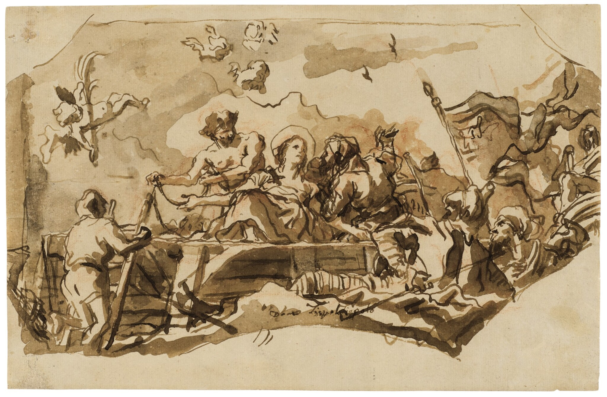 View full screen - View 1 of Lot 263. The Martyrdom of St. Giustina.