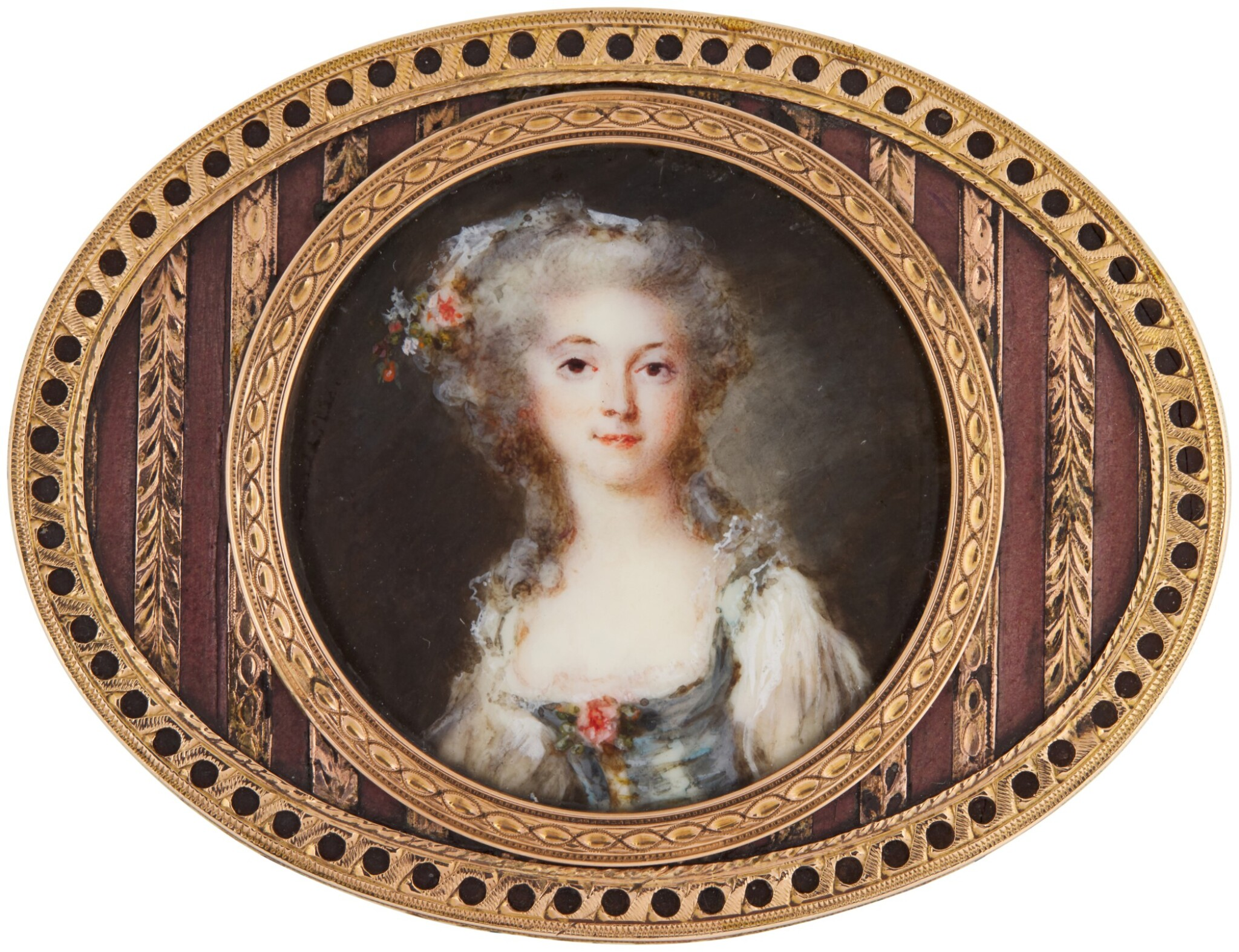 View full screen - View 1 of Lot 142. Portrait of a lady, circa 1780.