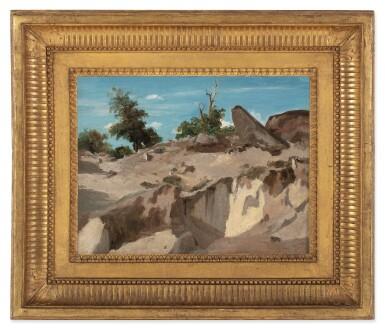 View 3. Thumbnail of Lot 137. JEAN-BAPTISTE-CAMILLE COROT     FORÊT DE FONTAINEBLEAU - AU PLATEAU BRÛLÉ.