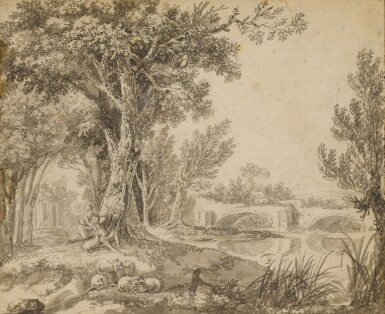 View 2. Thumbnail of Lot 150. A couple frolicking in parkland beside a river.